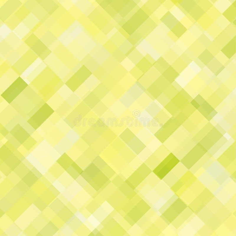 Fond abstrait carré jaune illustration libre de droits