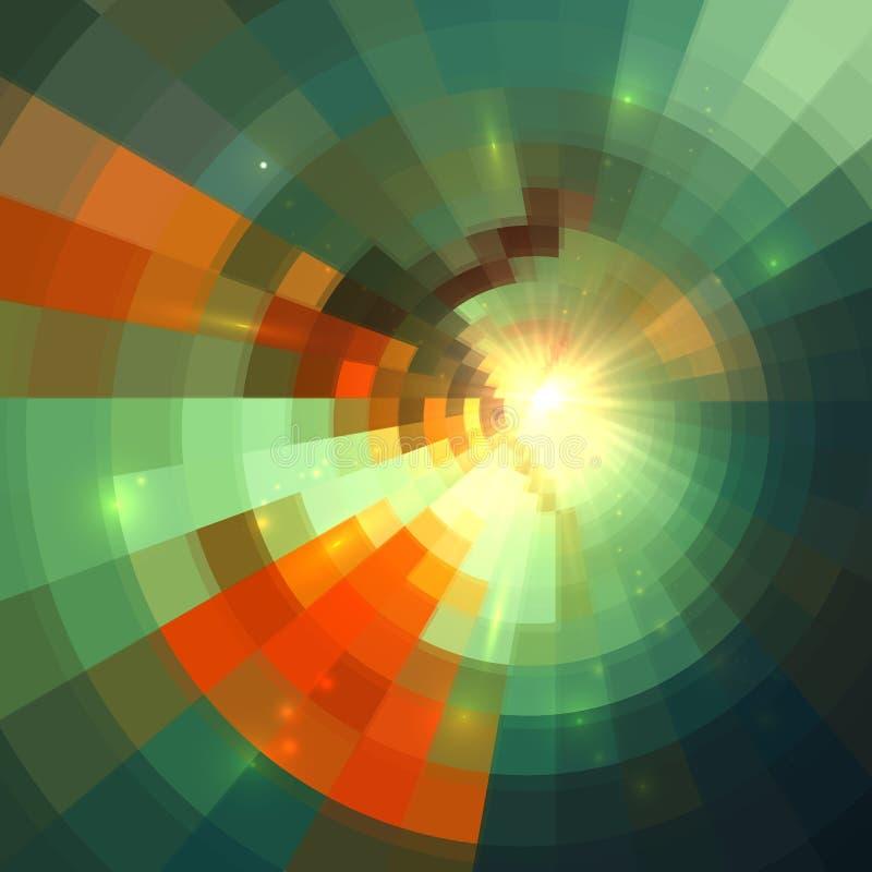 Fond abstrait carrelé lumineux brillant vert illustration stock