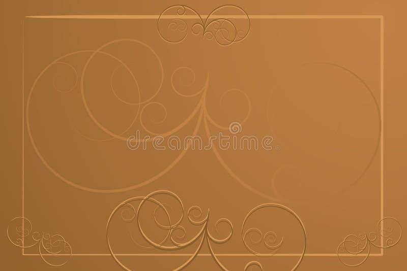 Fond abstrait - carte de restaurant illustration de vecteur