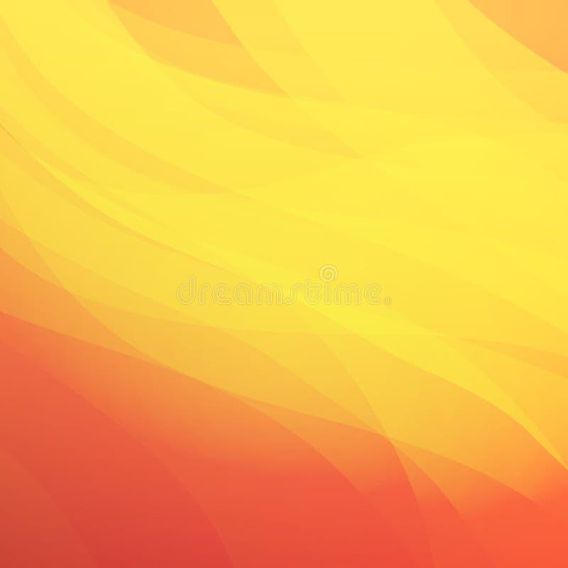 Fond abstrait chaud de style illustration stock