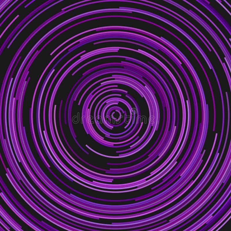 Fond abstrait circulaire des demi-cercles concentriques illustration stock