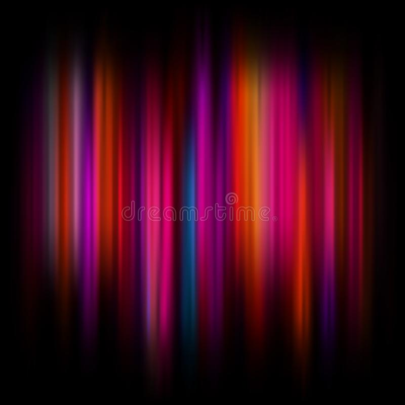 Fond abstrait clair avec les particules et les lignes rougeoyantes Beau fond abstrait de rayons ENV 10 illustration libre de droits