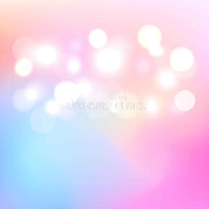 Fond abstrait clair coloré de Bokeh Lumière trouble un contexte Vecteur Illustration image libre de droits