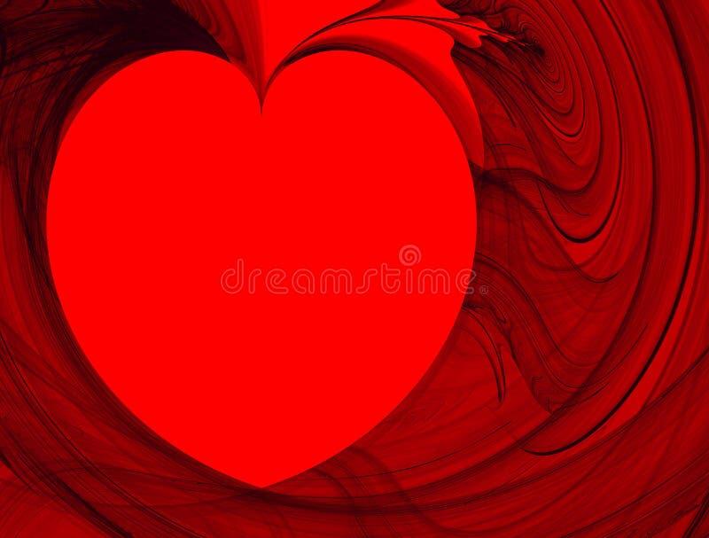 Fond abstrait. Coeur de fractale illustration de vecteur