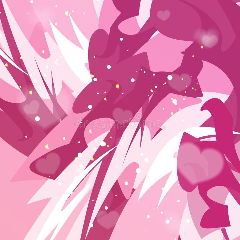 Fond abstrait coloré avec des coeurs dans le vecteur illustration de vecteur
