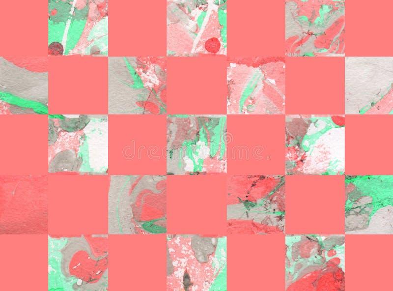 Fond abstrait coloré avec des places illustration stock