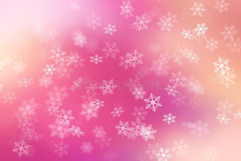 Fond abstrait coloré avec la chute de flocon de neige image stock