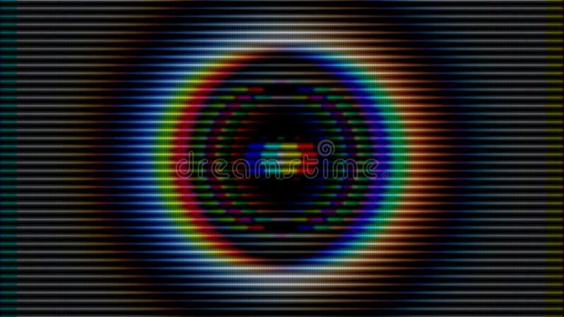 Fond abstrait coloré Cercles brillants lumières colorées de tache floue photos stock