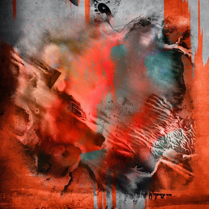 Fond abstrait coloré d'art photo stock