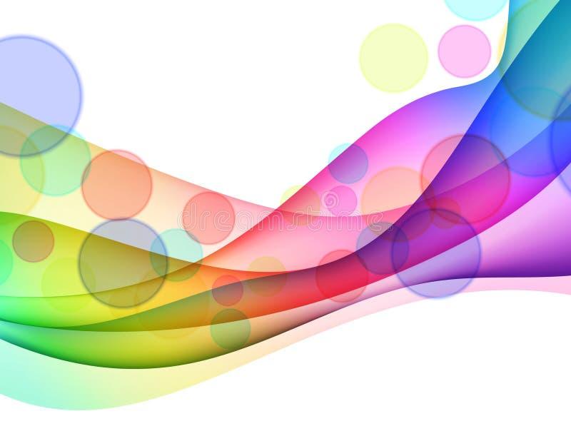 Fond abstrait coloré d'onde illustration libre de droits