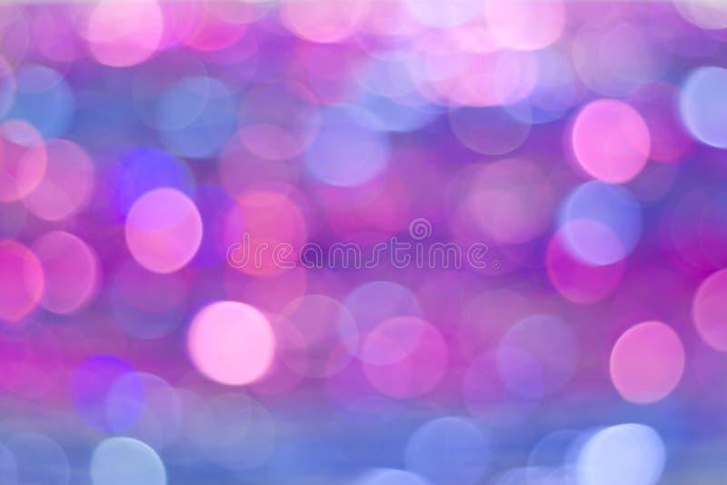 Fond abstrait coloré de bokeh Lumières de cercle d'étain brouillé photos stock