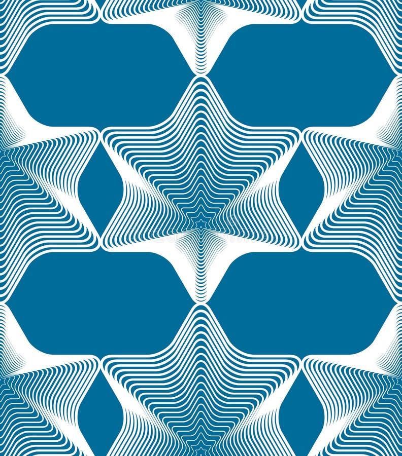 Fond abstrait coloré de vecteur fleuri avec les lignes blanches Sym illustration de vecteur