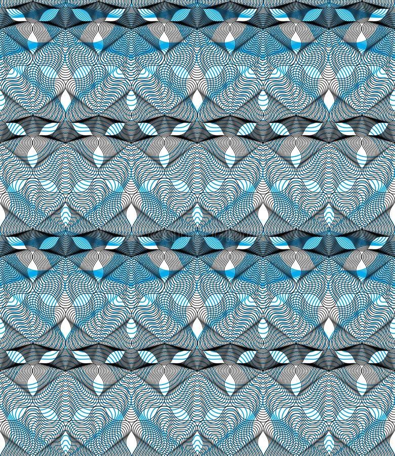 Fond abstrait coloré de vecteur fleuri avec les lignes graphiques S illustration libre de droits