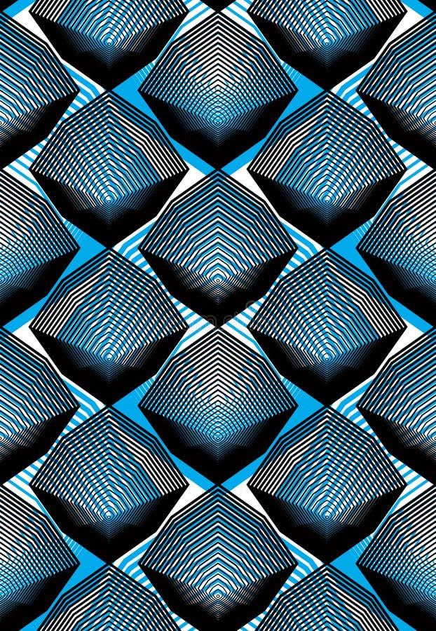Fond abstrait coloré de vecteur fleuri avec les lignes graphiques S illustration stock