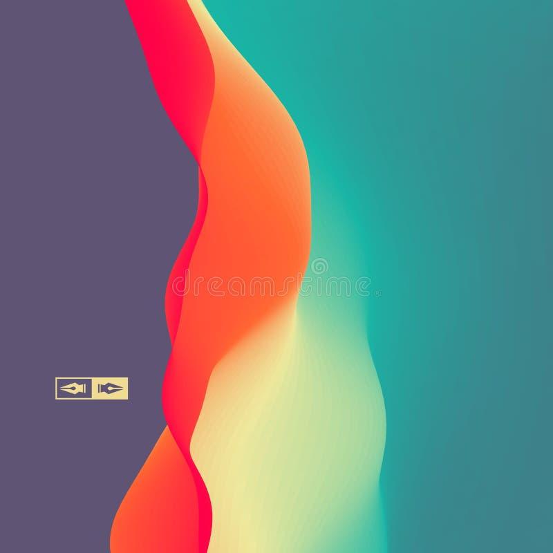 Fond abstrait coloré Effet dynamique Style futuriste de technologie illustration stock