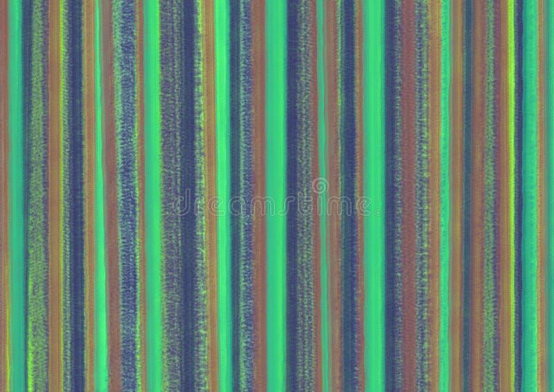 Fond abstrait coloré en pastel avec des traçages hvertical dans des couleurs vertes illustration stock