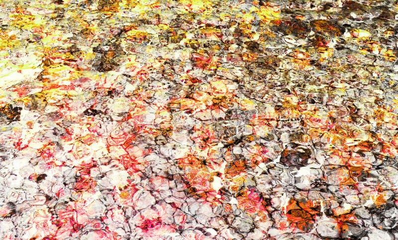 Fond abstrait coloré fait avec la technique de collage de photo photos stock