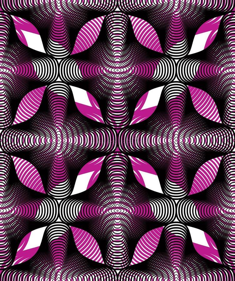 Fond abstrait coloré fleuri avec les lignes graphiques S illustration stock