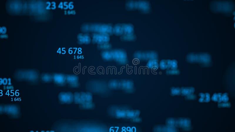 Fond abstrait color? Code machine binaire Code de l'information rendu 3d illustration stock