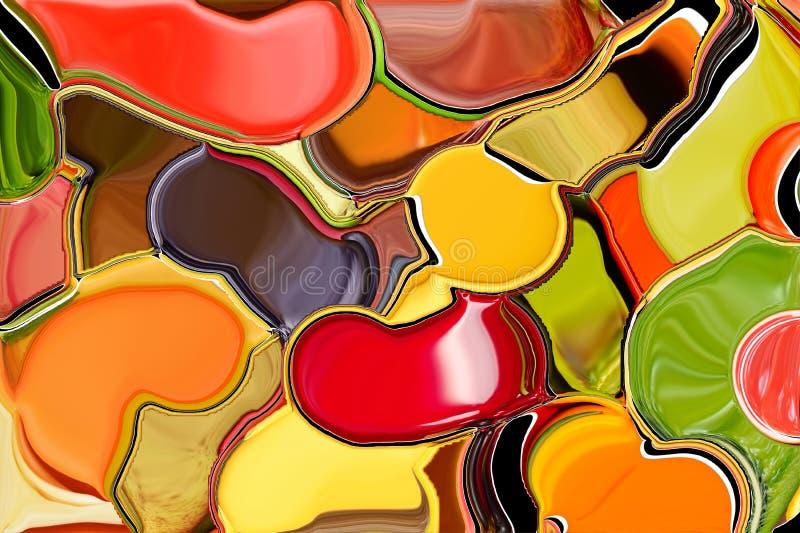 Fond abstrait comme la peinture enduite sur la palette illustration de vecteur