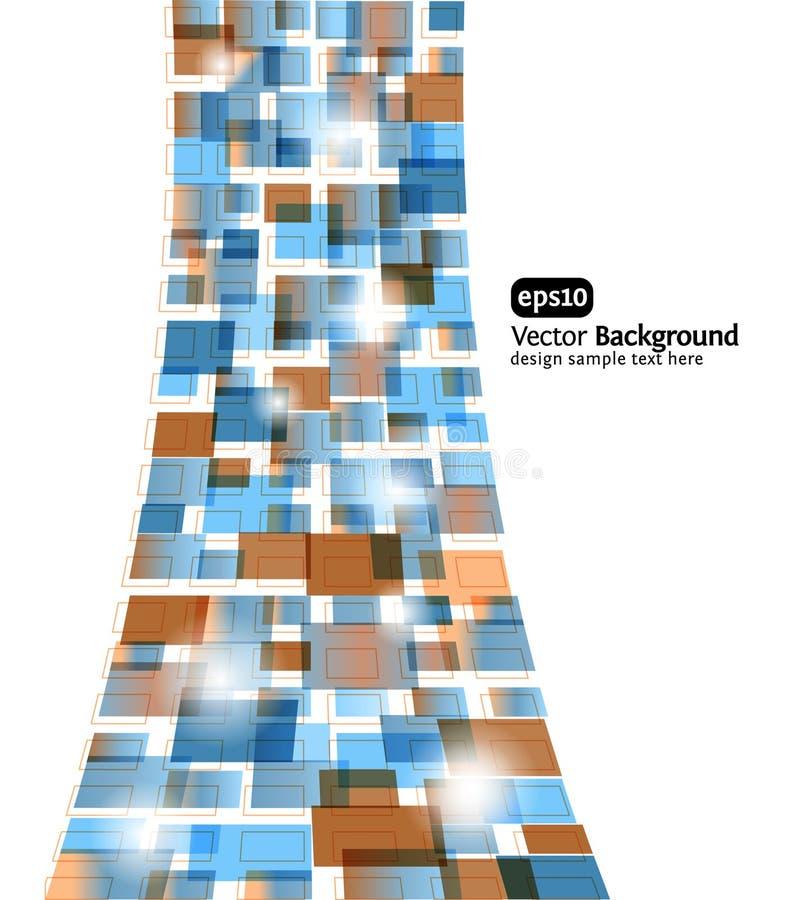 Fond abstrait. Conception rectangled par vecteur illustration stock