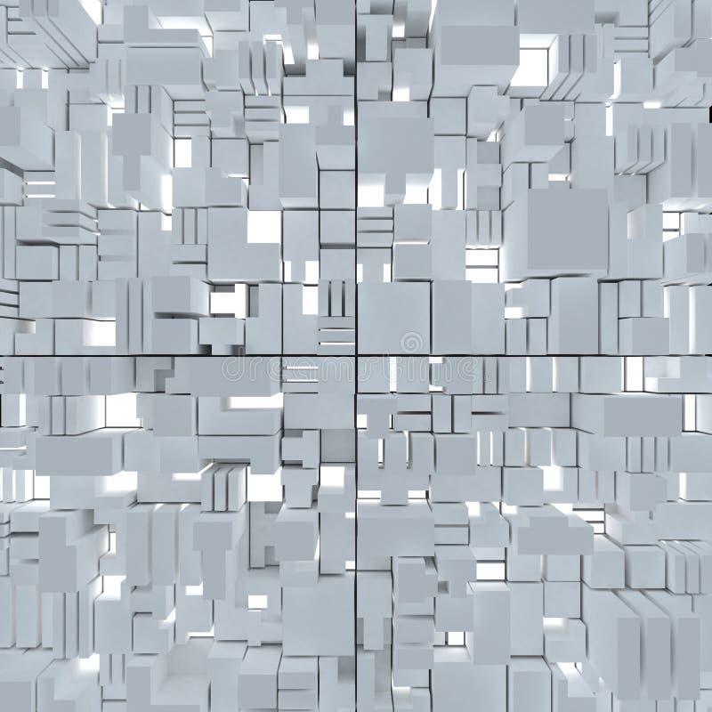 Fond Abstrait Cubique Image libre de droits