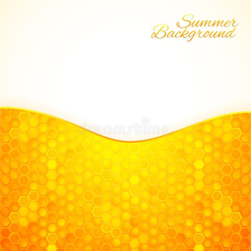 Fond abstrait d'été avec du miel illustration libre de droits