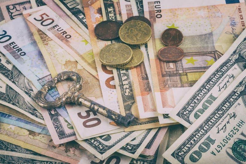 Fond abstrait d'affaires, allégorie - d'ouvrir des affaires clés en main, compte bancaire d'ouverture photos stock