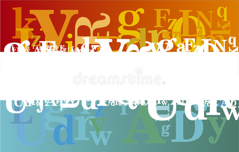 Fond abstrait d'alphabet image stock