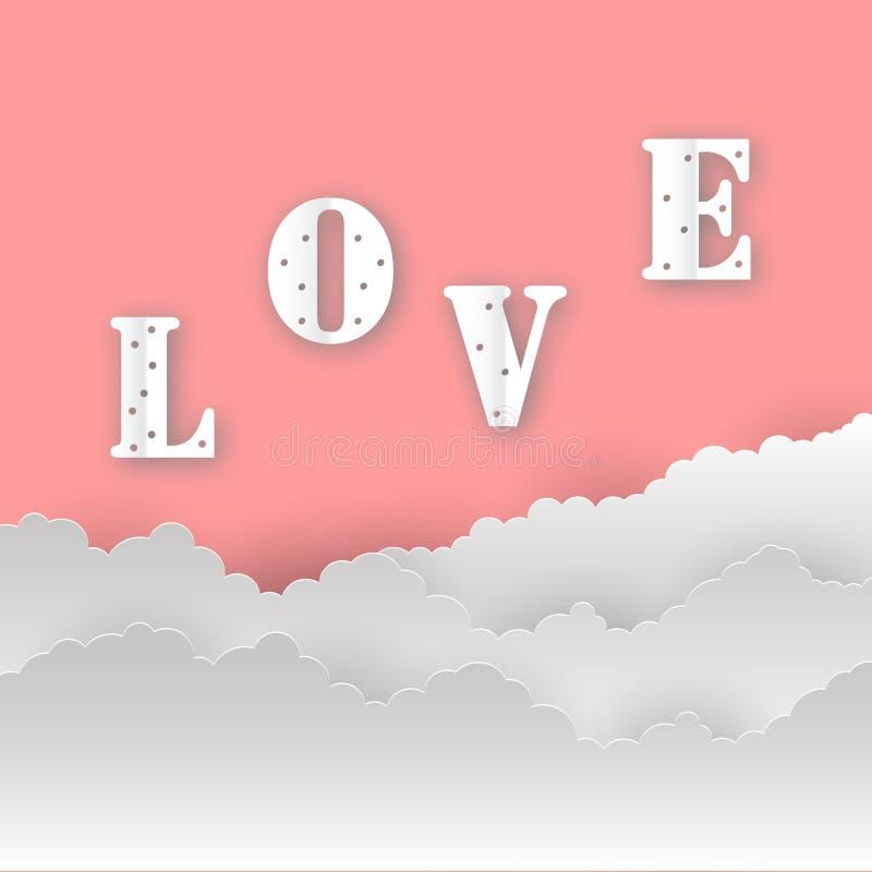 Fond abstrait d'amour Amour messages 14 février romantique Carte de jour de valentines, bannière Jour global d'amour photographie stock
