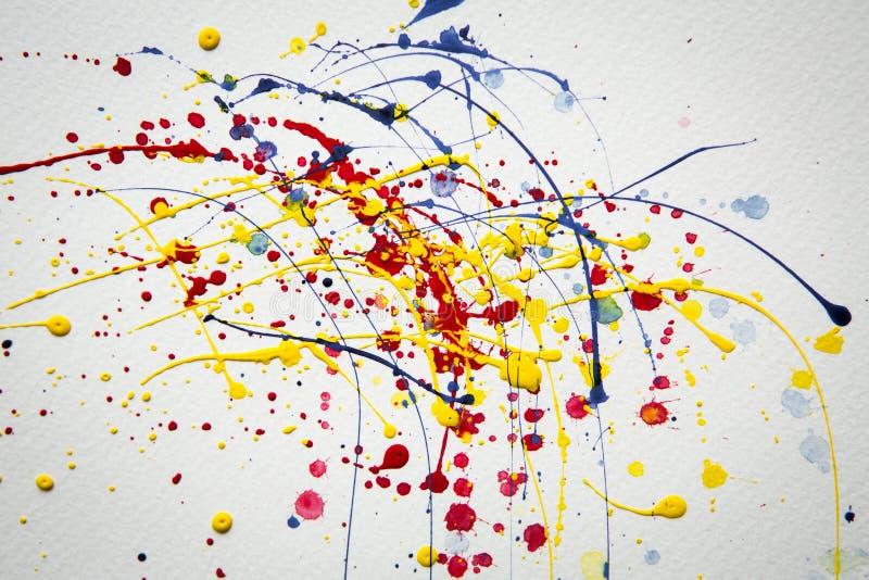 Fond abstrait d'aquarelle d'éclaboussure image libre de droits