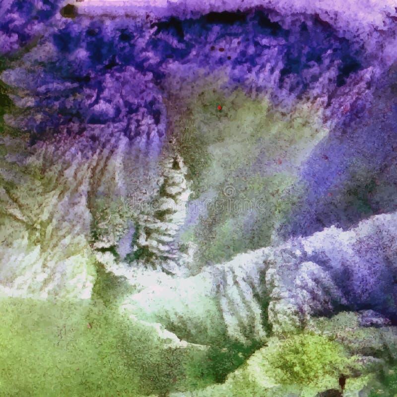 Fond abstrait d'aquarelle, illustration, couleurs d'aquarelles de tache sur le papier humide illustration libre de droits