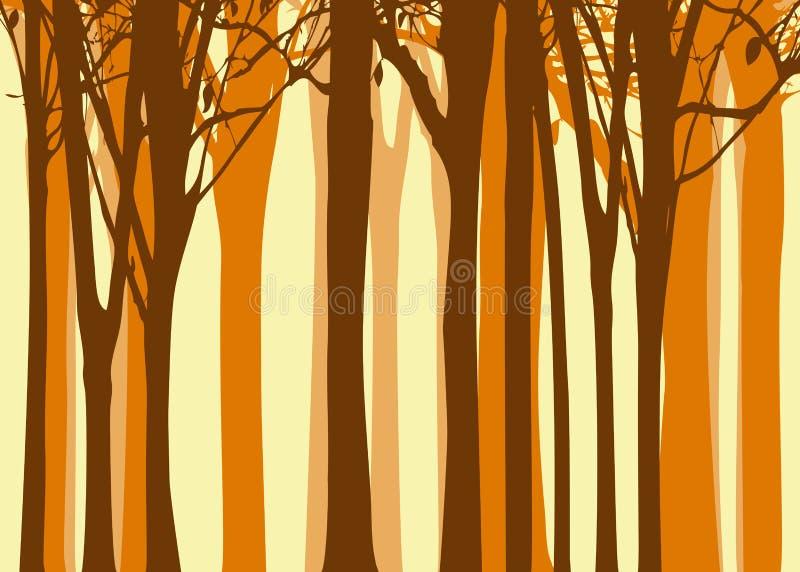 Fond abstrait d'arbre d'automne photos libres de droits