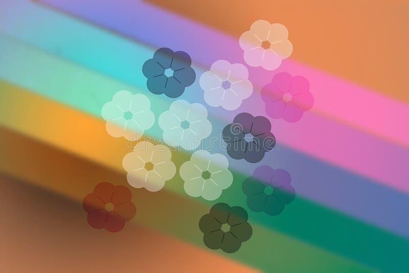 Fond abstrait d'arc-en-ciel de flore de fleur illustration de vecteur