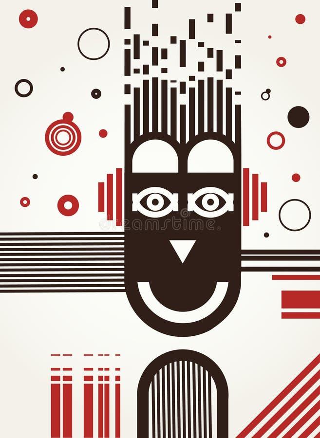 Fond abstrait d'art de musique. illustration de vecteur