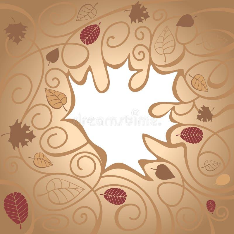 Fond abstrait d'automne illustration stock