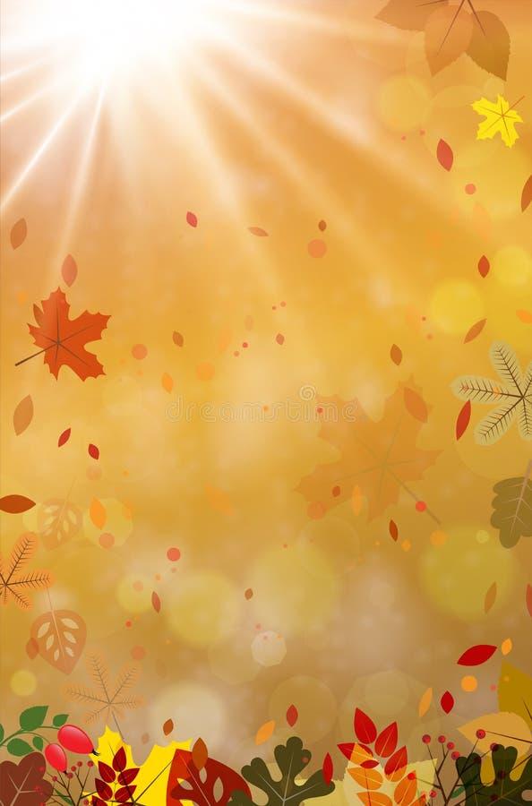 Download Fond Abstrait D'automne Avec Des Faisceaux Du Soleil Et Des Feuilles D'automne Illustration de Vecteur - Illustration du mouche, illustration: 87707915