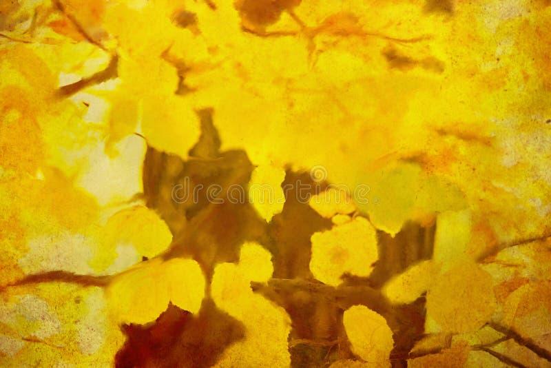 Fond abstrait d'automne d'huile illustration de vecteur