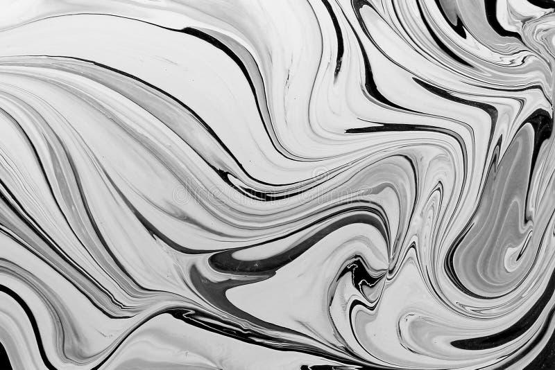 Fond abstrait d'encre de texture de marbre de modèle Ton noir et blanc photo libre de droits