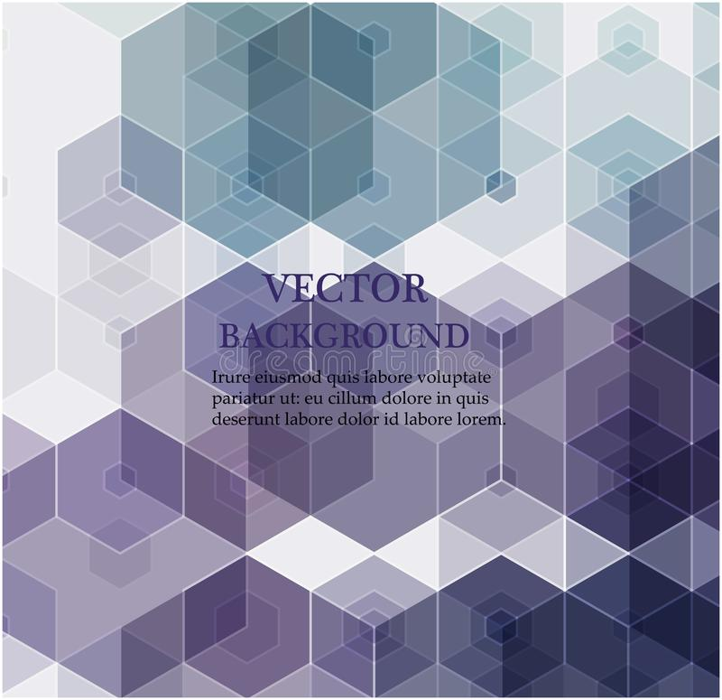 Fond abstrait d'hexagone Conception polygonale de technologie Minimalisme futuriste de Digital illustration stock