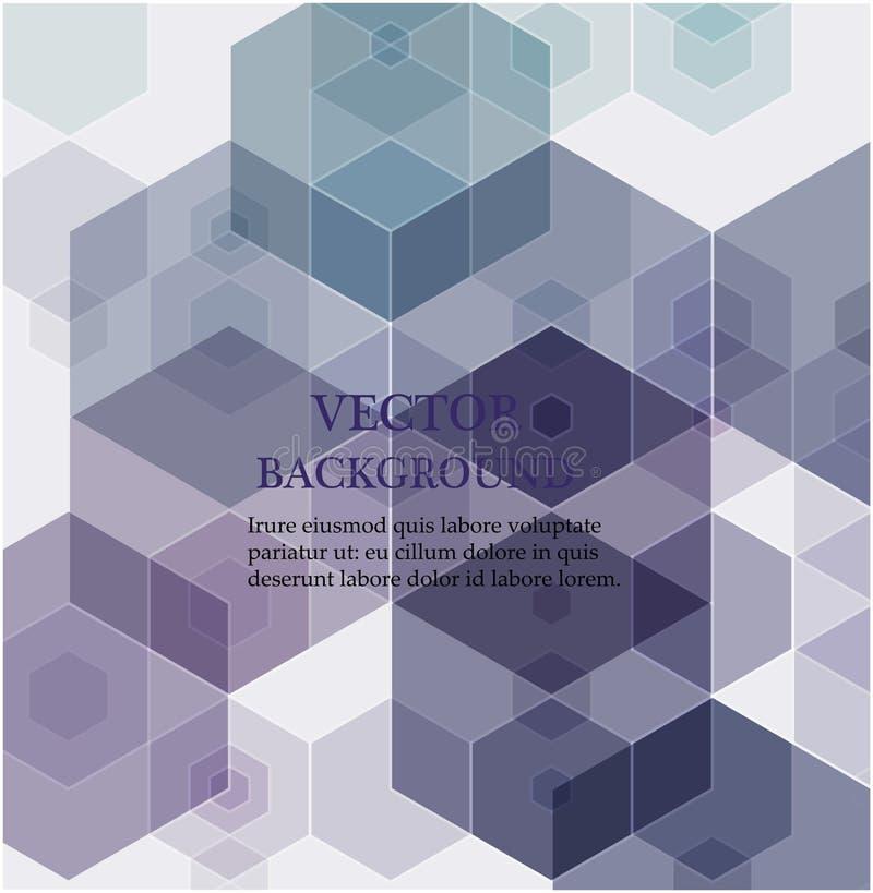 Fond abstrait d'hexagone Conception polygonale de technologie Minimalisme futuriste de Digital illustration de vecteur