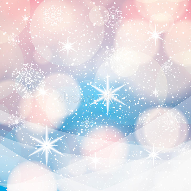 Fond abstrait d'hiver illustration de vecteur