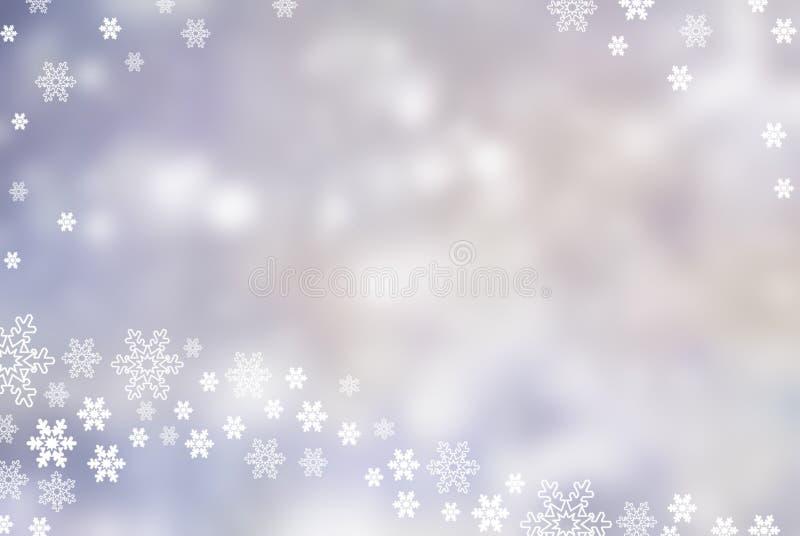 Fond abstrait d'hiver de Noël de flocon de neige illustration libre de droits