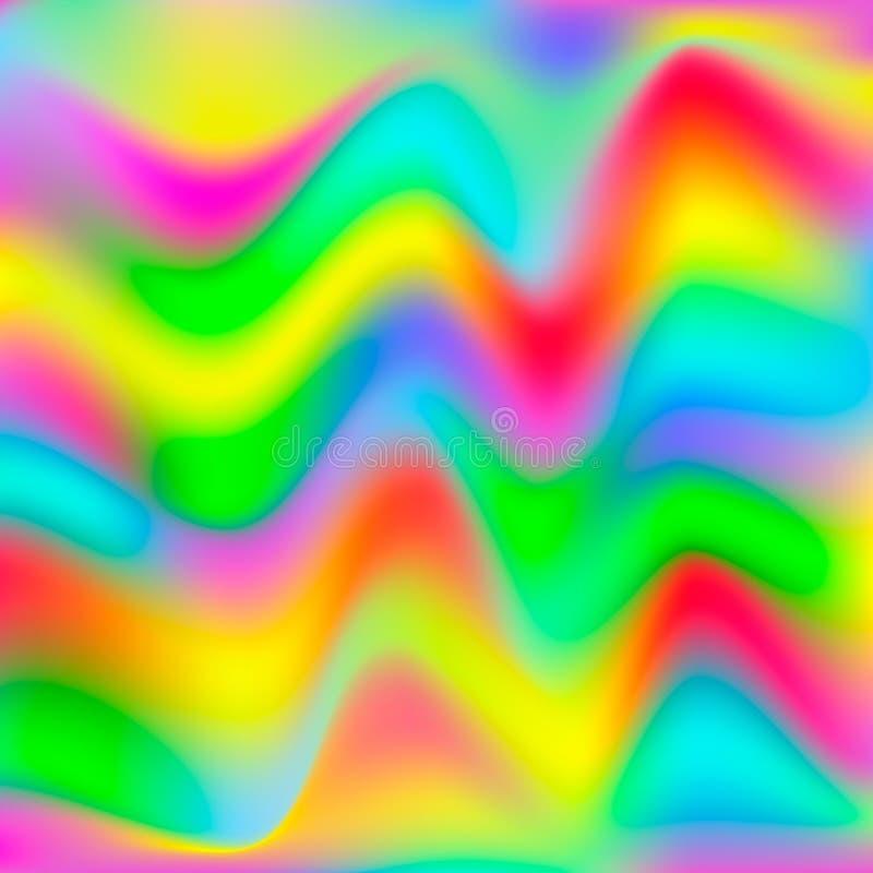 Fond abstrait d'hologramme Papier peint et concept de texture Illustration de vecteur illustration de vecteur