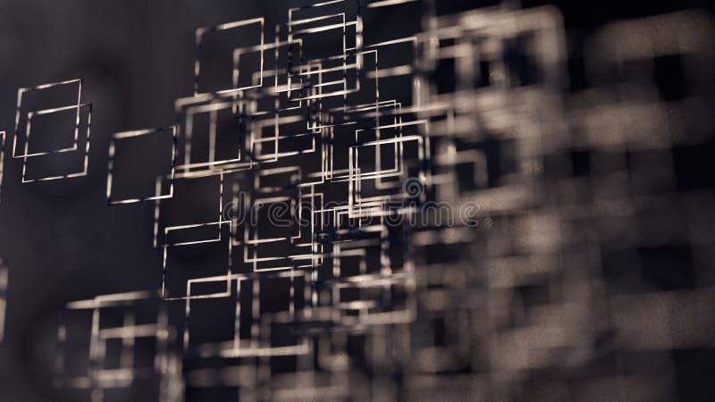 Fond abstrait d'illustration, brun, places, sur le rendu blanc du fond 3d illustration libre de droits