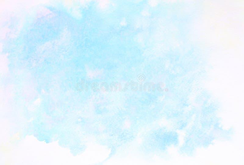 Fond abstrait d'illustration de peinture de photo d'aquarelle de conception photos stock