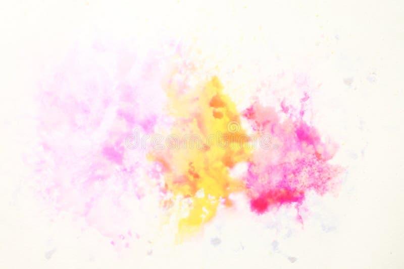 Fond abstrait d'illustration de peinture de photo d'aquarelle de conception photo stock