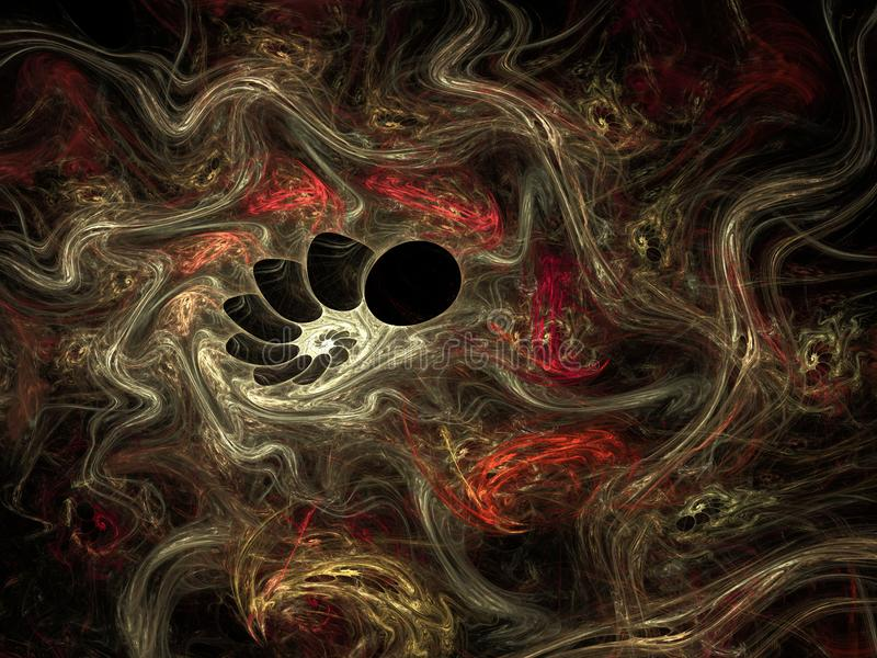 Fond abstrait d'imagination de fractale - illustration 3d illustration libre de droits