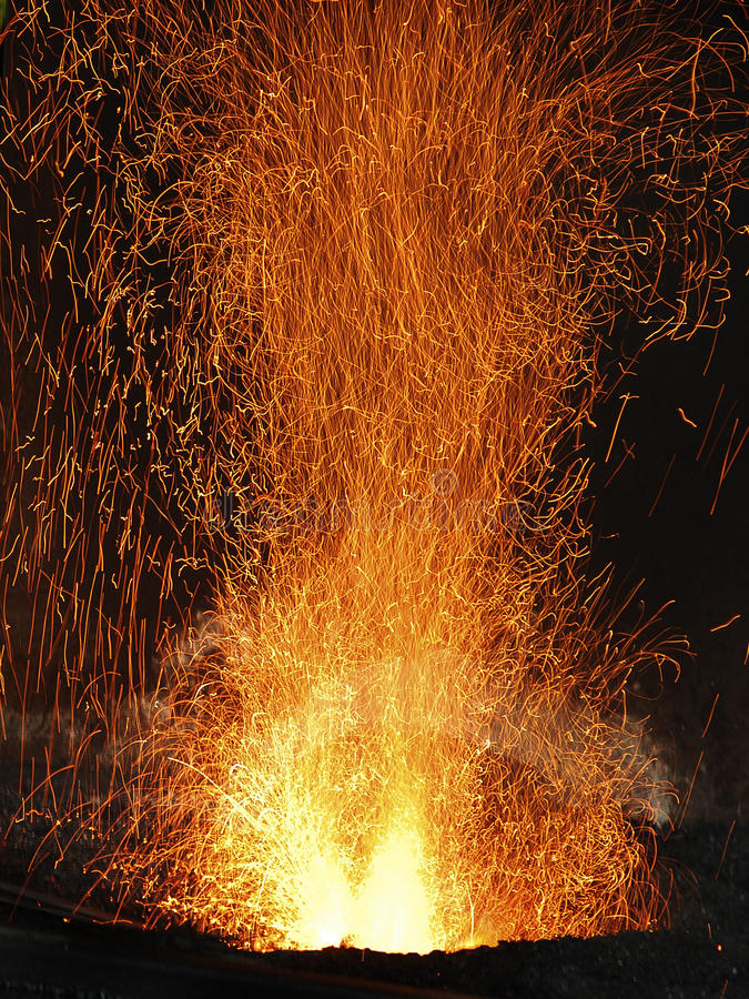 FOND ABSTRAIT D'INCENDIE ET DE FLAMMES photo stock