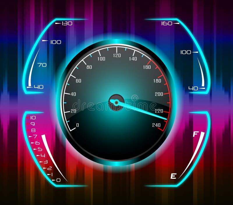 Fond abstrait d'indicateur de vitesse illustration stock